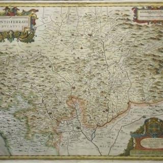 Jodocus Hondius - Montisferrati Ducatus (Piedmont, Northern Italy)
