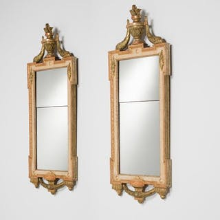 A Matched Pair of Swedish Gustavian Mirrors circa 1780