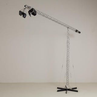 A Monumental Curtis Jere Crane Floor Lamp USA 1970s
