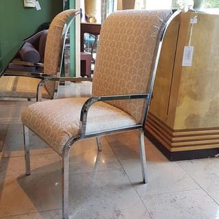 A Set of Six Dining Chairs by Milo Baughman 1970s