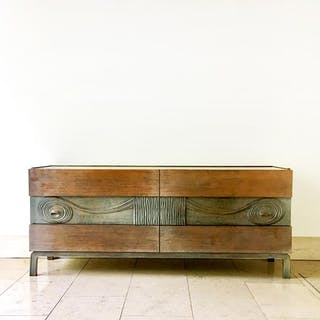 Swedish Six Drawer Walnut Cabinet by Edmond Spence 1950s