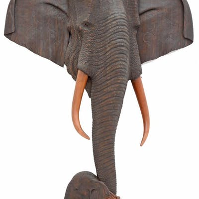 Carved African Elephants