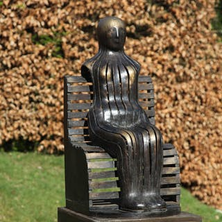 Figure on a Park Bench