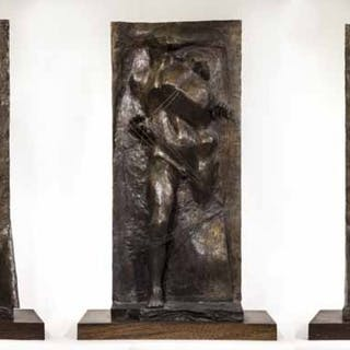 Emerging Figure Triptych, Executed in 1966