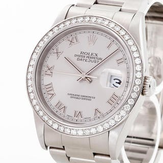 Rolex Oyster Perpetual Datejust 36mm Diamant Lünette (After-Market) Ref. 16200