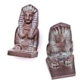 pair of original and remarkably intact art deco style ornamental cast