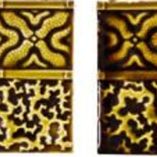 set of ten matching fireplace tiles with exuberant and fascinating