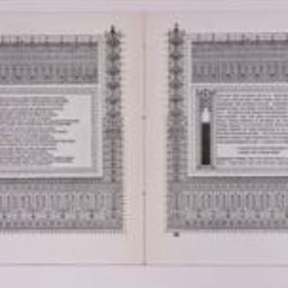 very rare and original hand-made pages from the c. 1897 frank lloyd