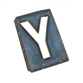 original early 20th century blue enameled pressed and folded exterior