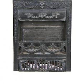 c. 1890-1900 antique american victorian era black enameled ornamental