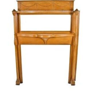 elegant original c. 1880's antique american victorian era carved white