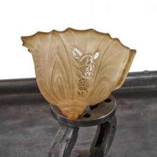 original american depression era at deco style baked enameled ornamental