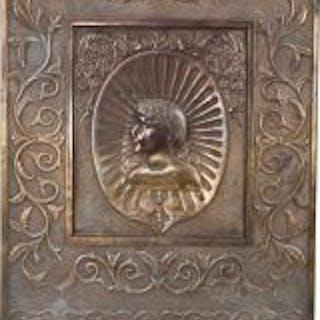 rare c. 1890's american victorian era ornamental cast iron residential