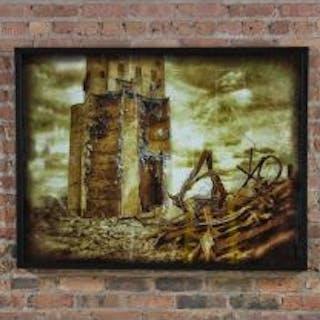 """limited edition large format digital print entitled """"grain elevator"""""""