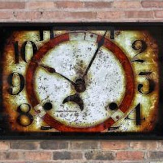 "limited edition large format digital print entitled ""clock face"" with"