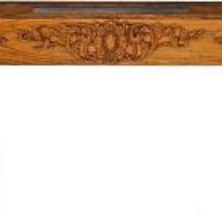 double-sided original c. early 20th cent. varnished oak wood colonnade