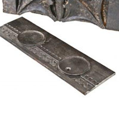 strongly geometric c. 1907 american ornamental cast iron michael reese