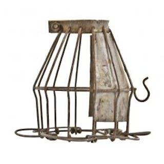 """original c. 1930's american antique industrial """"flexco-lok"""" galvanized"""