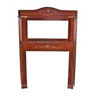original antique american victorian era c. 1900-09 solid varnished