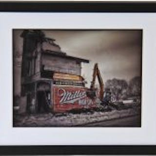 "limited edition framed and matted digital print entitled ""wreck"" on"