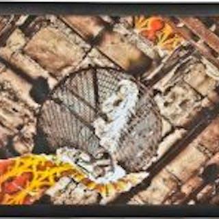 """limited edition medium-sized digital print entitled """"steel mesh cone"""""""