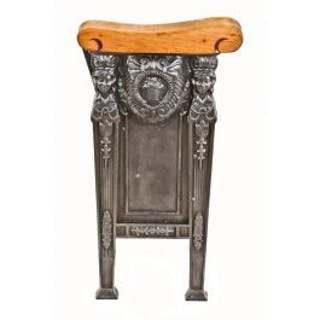 refinished original c. 1920's freestanding heavily ornamented cast