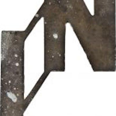 c. 1930's original and intact black enameled reinforced cast aluminum