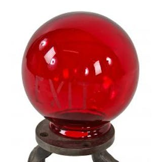 antique american early 20th century brilliantly colored ruby red glass