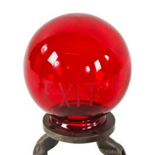 completely intact and original early 20th century bright ruby red