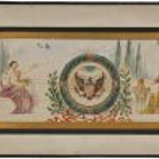 original c. 1910-15 mounted and signed odin j. oyen polychromatic