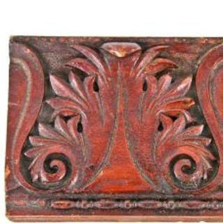 original and documented late 19th century hand carved solid red mahogany