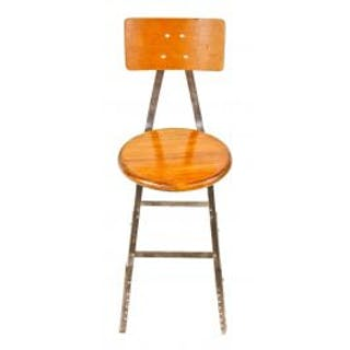fully refinished american vintage industrial original c. 1950's four-legged