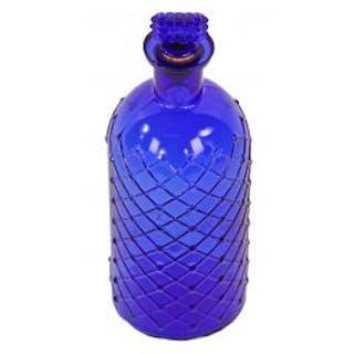 original c. 1890's antique american richly colored dark cobalt blue