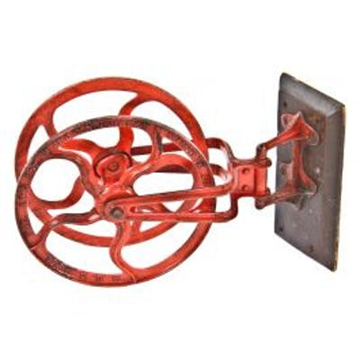beautiful and rare 1890's fully functional american industrial swing-out