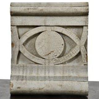 single original c. 1910-15 antique american white glazed ornamental