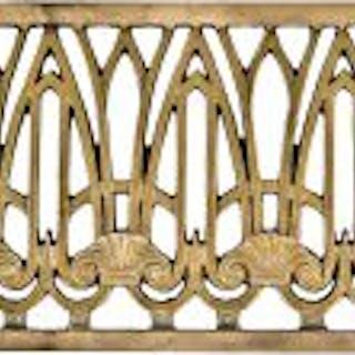 stunning ornamental cast bronze art deco perforated elevator door