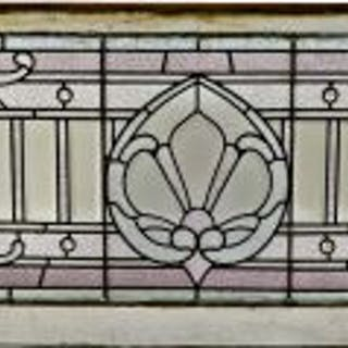 remarkable c. 1892 all original salvaged chicago leaded glass residential