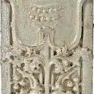one of several matching all original and intact white glazed sullivanesque