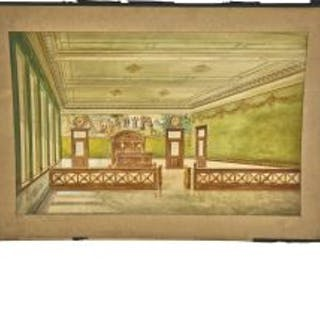 early 20th american architectural watercolor rendering of the la crosse