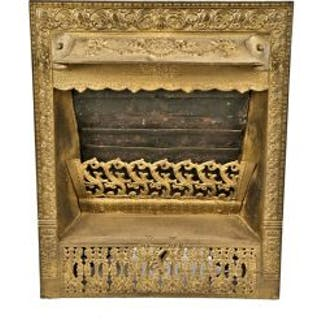 exceptional metallic gold enameled 19th century patented interior