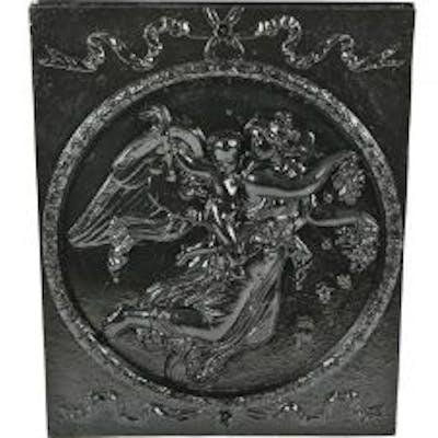 original early 1890's antique american victorian era black enameled