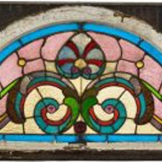 1880's richly colored arch top victorian era salvaged chicago residential
