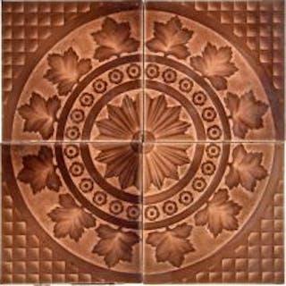 19th century american victorian era set of four majolica glazed interior