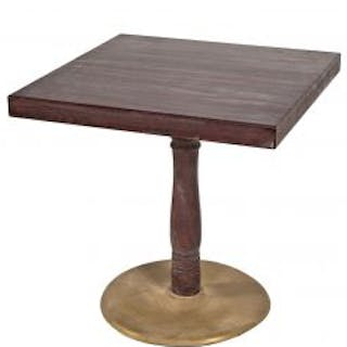 original and well-maintained solid oak wood american pub table with