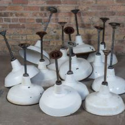 several matching c. 1930's original and intact salvaged chicago fulton