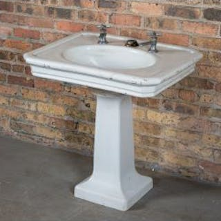 original early 20th century antique american salvaged chicago white