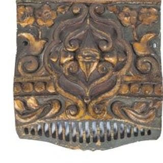c. 1920's diminutive american ornamental cast iron interior historic