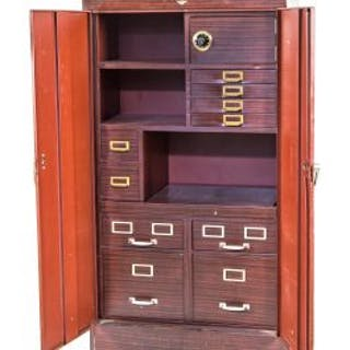 rare all original and fully functional oversized heavily compartmentalized