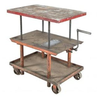 one of four nearly identical fully adjustable salvaged chicago three-tier