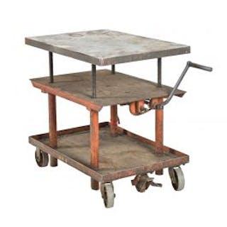original vintage american industrial fully adjustable mobile salvaged